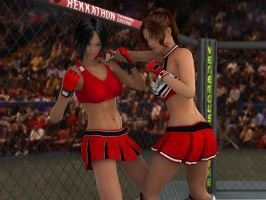 Tomiko vs Anne  02 by PhoenixCreed