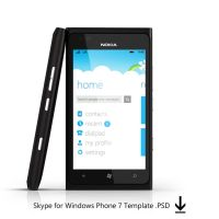 Skype TEMPLATE WP7 by MetroUI