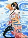 Koi mermaid by MeredithDillman