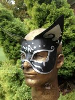 Goth Cat Fashion Mask by nondecaf