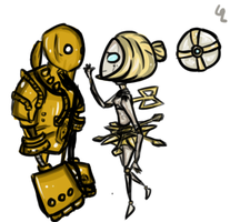 Blitzcrank and Orianna by hanecco