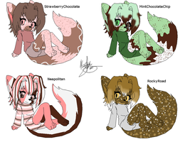 Icecream Fox Adopties by NecrophilacPrince