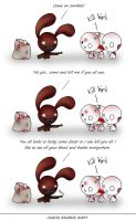 Blood bunny comic - Zombies by Joakaha