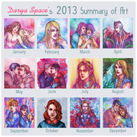 Summary of Art 2013 by DaryaSpace