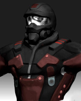 Red Shadow -Recon bust Zbrush by bflynn22