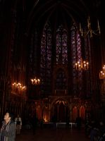 Interior of St Chapelle at night by Roses-and-Feathers