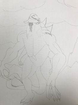 Six minute sketch of Dehaka sniffing by Ihsan997