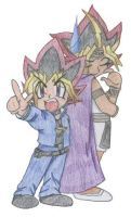 Yugi and Atemu by SkylaDoragono