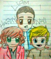 Harry, Liam, and Niall by TracyPalafox