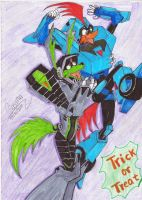 Crossover  Transformers and Loonatics Tech x Rev by GIASAMA