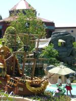 The Jolly Roger and Crocodile by disneyland-stock