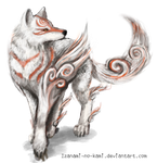 Amaterasu From Okami // Drawing by Izanami-No-Kami
