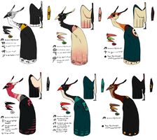 Monk Bird Adoptables SOLD OUT by Densetsugin