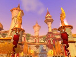 silvermoon city and fountain by chrishhsirhc