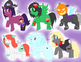 Pony Adoptableses- Halloween by Warped-Dragonfly