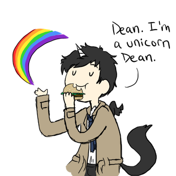 Cas The Unicorn by nerdymoosechild
