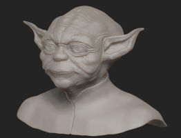 Yoda of might and magic WIP by Rimka