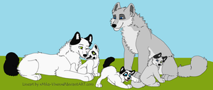Grey and Akemi's Family by Game-Over-Adoptables