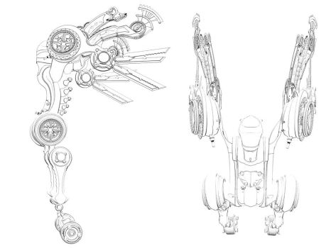 Mecha sketch by your1st
