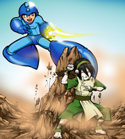 Rockman vs Rockgirl by Oz-suka