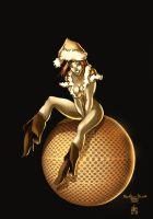 xmas pin-up by qualano