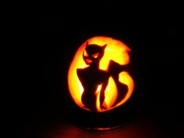 Catwoman Pumpkin - Happy Halloween! by InkyDreamz