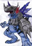 Fan Art - MetalGreymon (Virus) by KrytenMarkGen-0