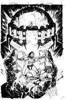 Avengers Arena 3 inks by thisismyboomstick