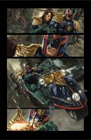 Judge Dredd Sample Page by Wilustra
