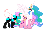 Raver's Bases: Time for Walkies with Celestia by SilverRomance
