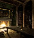 Haunted Library by LuckyMunky