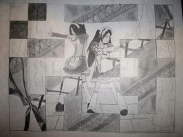 D1- Grid Drawing by TryNotToSmile