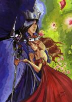 Hades and Persephone by Maryetten