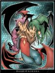Morrigan and Lilith by Sketchfighter316