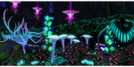 Pandoran Forest at Night by DrowElfMorwen
