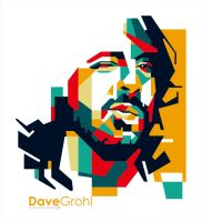 Dave grohl in WPAP by EDHO by edhoartwork