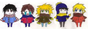 South Park Chibis by Dragongirl9888