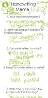 Handwriting Meme v2.0 by grayscalerainbowww