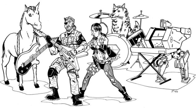 Snake and the Buddies- inks by CrimeRoyale