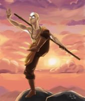 Avatar Aang by kiraoka