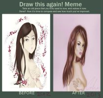 Before and after meme (Fiora Cavazza) by annagirl59