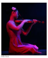 Chinese Violinist by Della-Stock