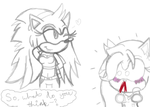 Female Sonic XD by HedgeCatDragonix