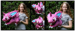 Commission: Lifesize Nidoran Plush by Nazegoreng
