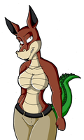 Crash B. - Female Dingodile by KaylaTheDragoness
