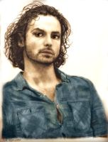 Aidan Turner Colorized by shuckaby