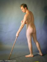 Male nude staff 1 by TheMaleNudeStock