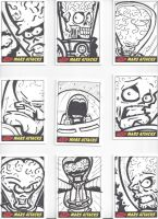 Mars Attacks! Sketch Cards #5 by mikehampton
