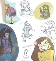 Mabel sketchdump by blargberries