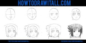 HOW TO DRAW SASUKE by HowToDrawItAll